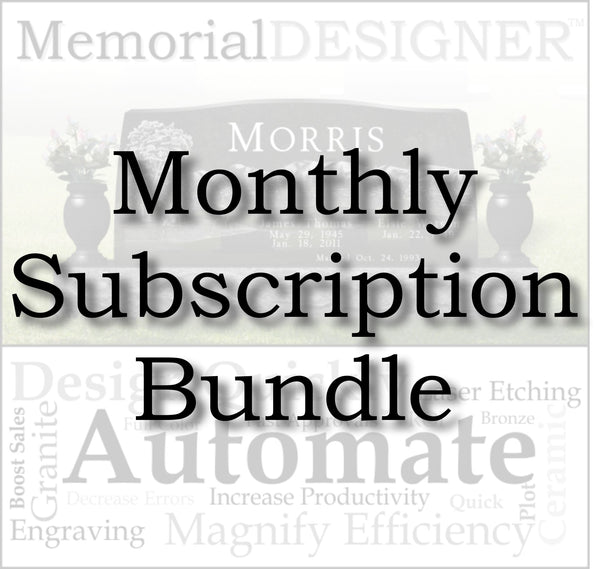 MemorialDESIGNER Monthly Subscription + CorelDRAW Graphics Suite 2018 Bundle
