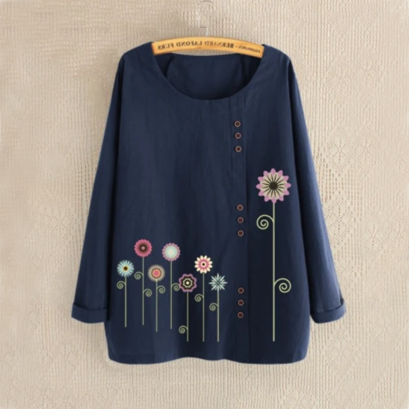 Flower Garden Summer Blouse