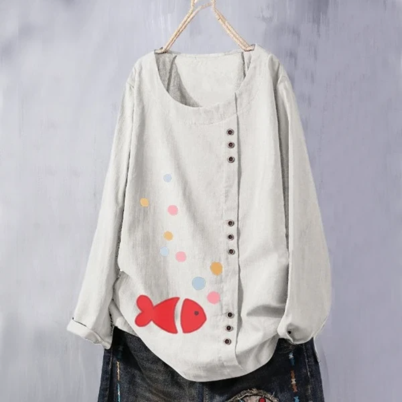 Bubble Fish Summer Blouse