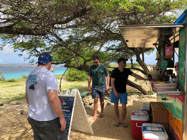 Finding a fresh food truck serving local fish in Bonaire
