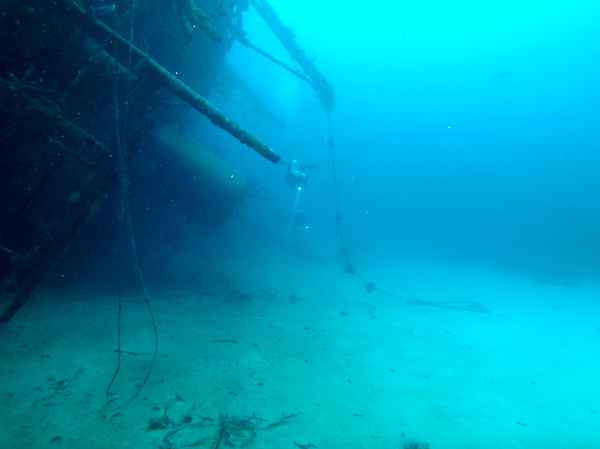 Diving the Hilma Hooker wreck in Bonaire