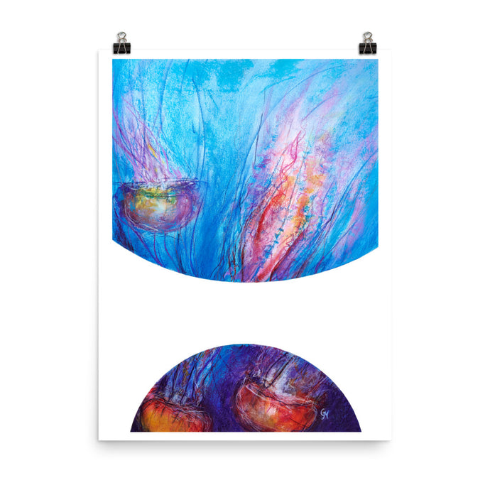 Bubbles: Jellyfish Dance Art Print