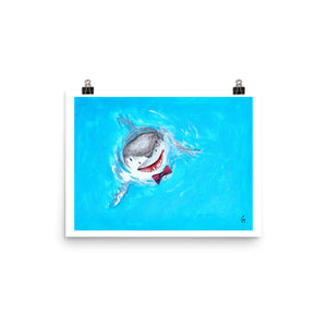 The Great White Spy Hopping Shark Print