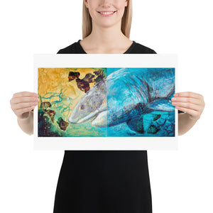 Great White Shark Art Print