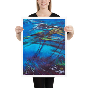 Submerged in the Shallows Art Print