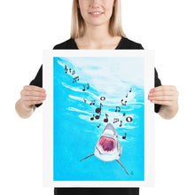 Load image into Gallery viewer, Singing Shark Art Print