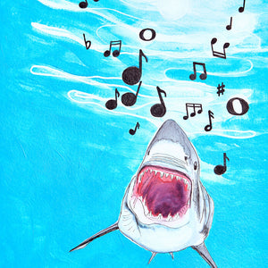 Singing Shark Art Print