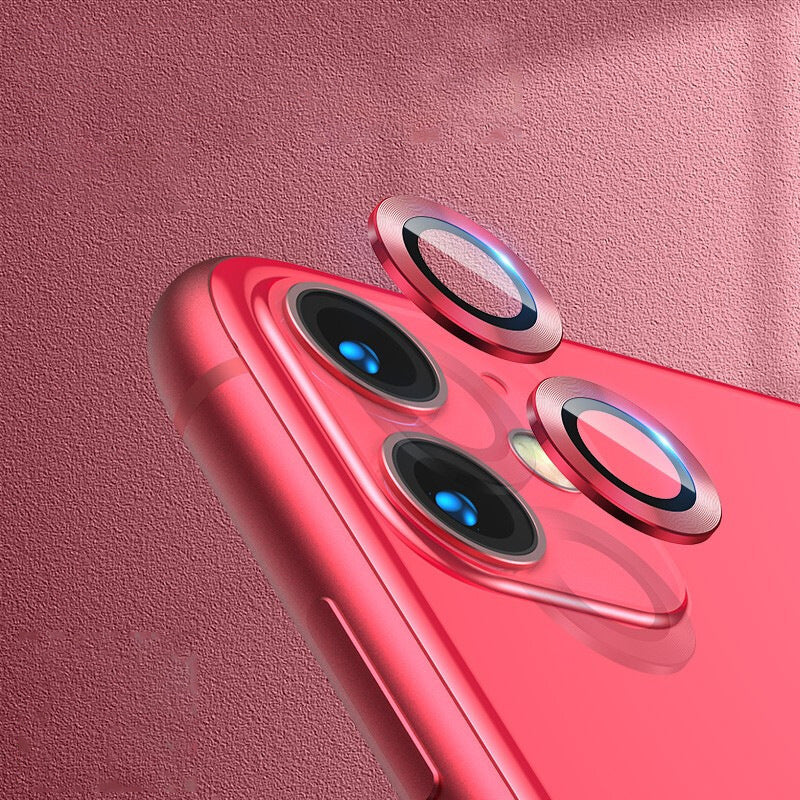 iPhone 11Camera Lens Protector Case Cover Metal Rings