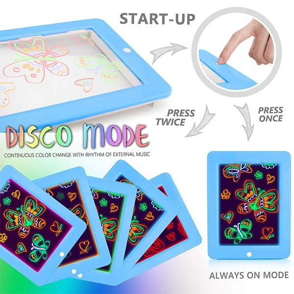 LED 3D Magic Drawing Pad