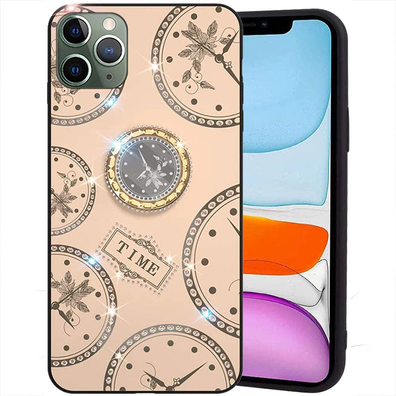 Creative Clock Design Phone Case with Ring