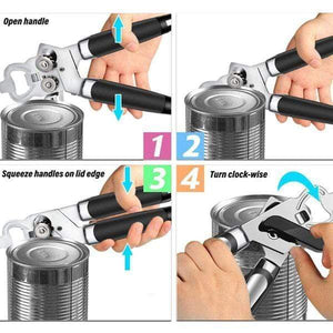 3-in-1 Stainless Steel Tin Opener