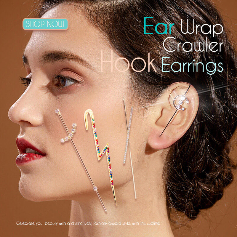 (50% OFF)Ear Wrap Crawler Hook Earrings(BUY 4 FREE SHIPPING)