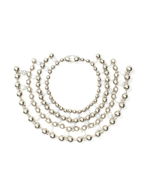 Marble Multiverse Ball Chain Collar