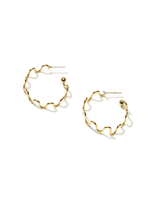 Squiggle Hoop Earrings - Medium