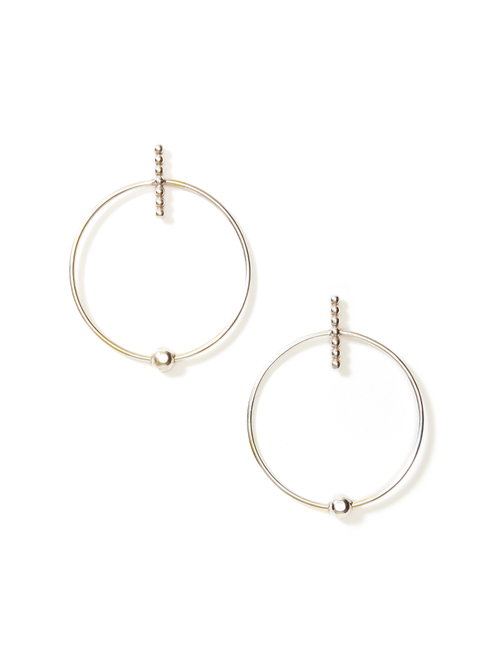 Axis Hoop Earrings - Medium