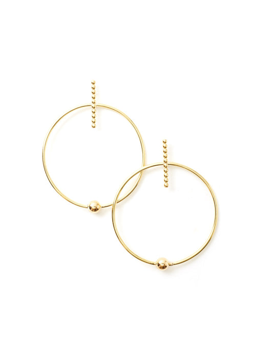 Axis Hoop Earrings