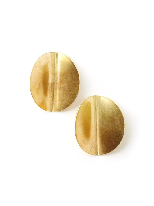 Folded Disc Earrings