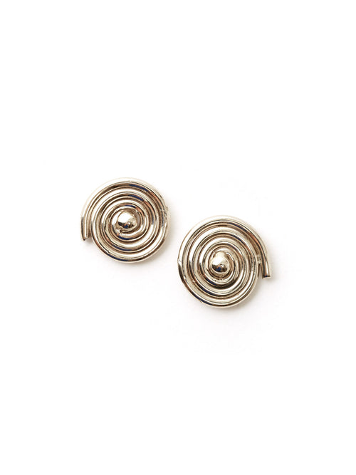 Radial Spiral Earrings Medium