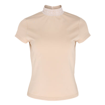 Stella Lace Neck Top-Top-Estelle