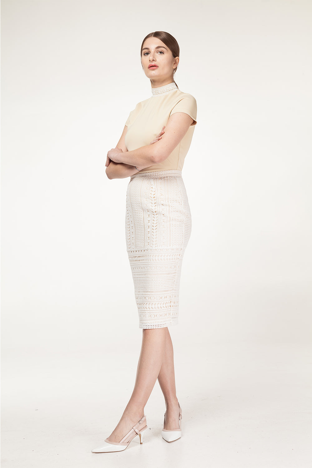 Lace Pencil Skirt - 60% Off