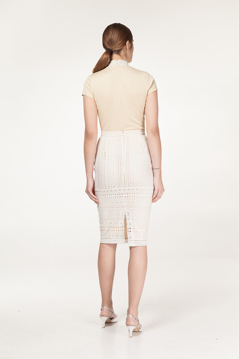 Ammara Lace Fitted Skirt