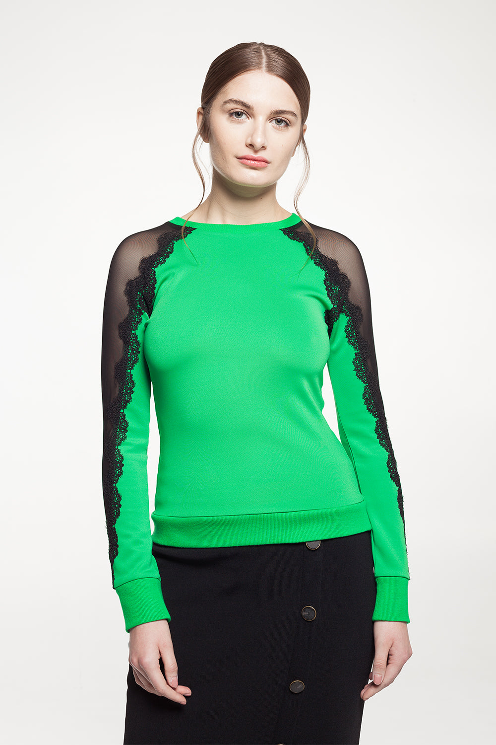 Green Lace Top - 60% Off