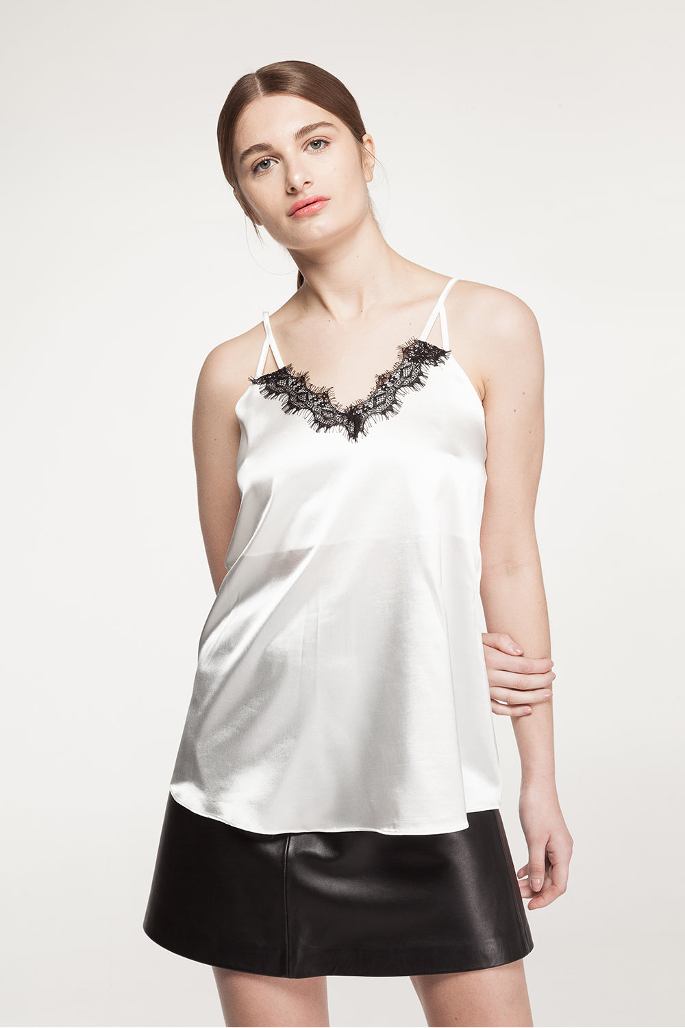 V-Neck Lace Cami Top - 60% Off