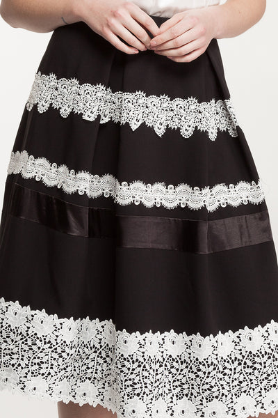 Halina Box Pleat Skirt-Skirt-Estelle