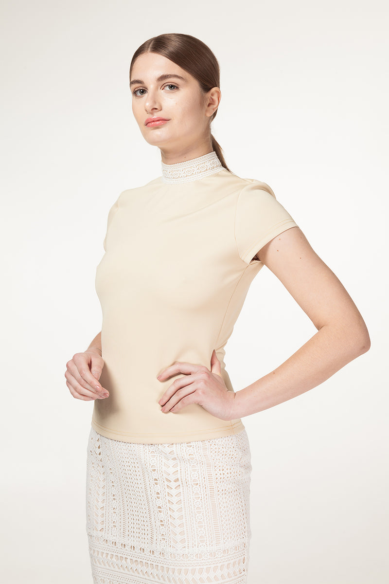 Stella Lace Neck Top