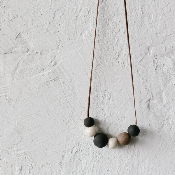 Charcoal Bubble Necklace
