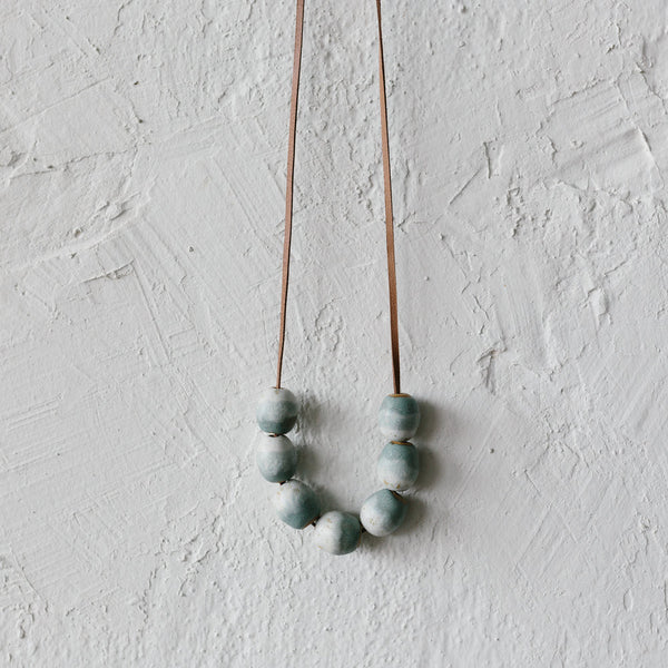 Salty Blue Bead Necklace