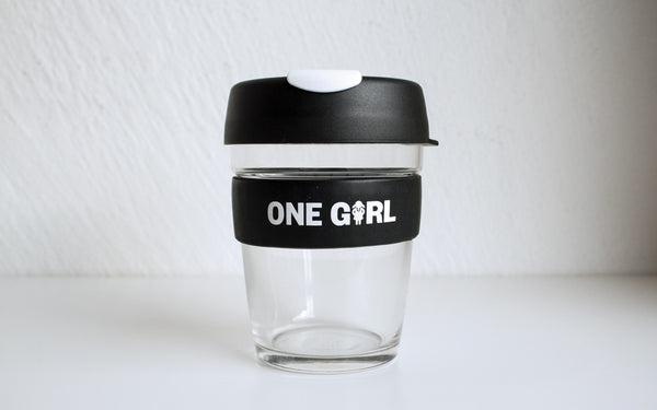 One Girl KeepCup Glass - Black