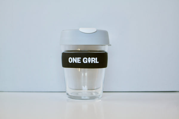 One Girl KeepCup Glass – Grey
