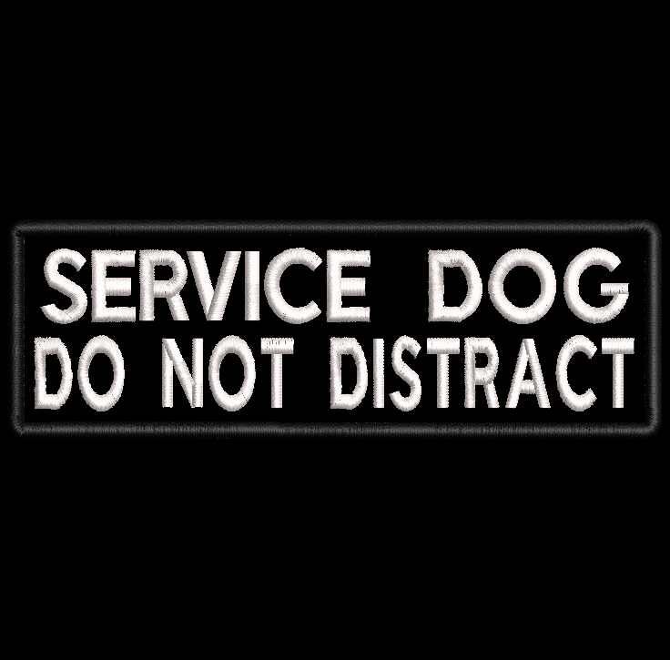 SERVICE DOG Do not distract embroidered patch - Avasa Crafts