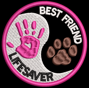 Best Friends Lifesaver Service/Assistance Dog embroidered patch - Avasa Crafts