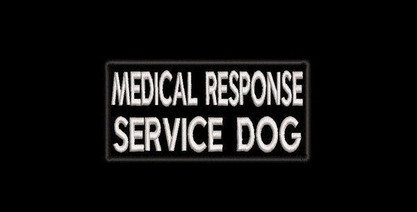 Medical Response SERVICE DOG embroidered patch - LARGE - Avasa Crafts
