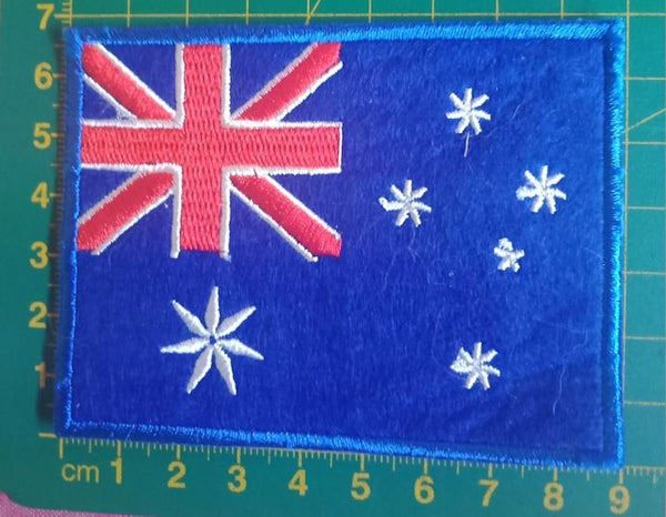 Pre-made SALE - Australia Flag - Blue, red and white embroidered patch - Avasa Crafts