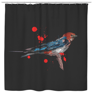 Lesser Striped Swallow Shower Curtain