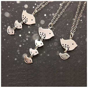 Happy Bird Day Necklace in Sterling Silver