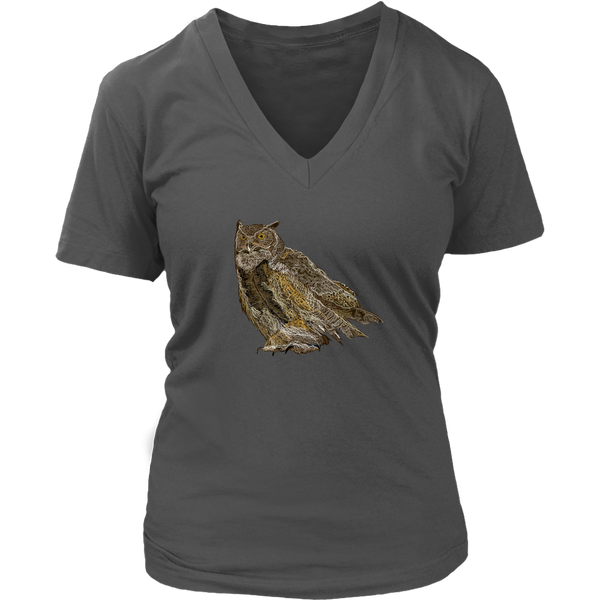 Great Horned Owl Women's V-Neck