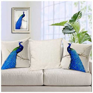 PEACOCK EXOTICA Cushion Covers in Pairs
