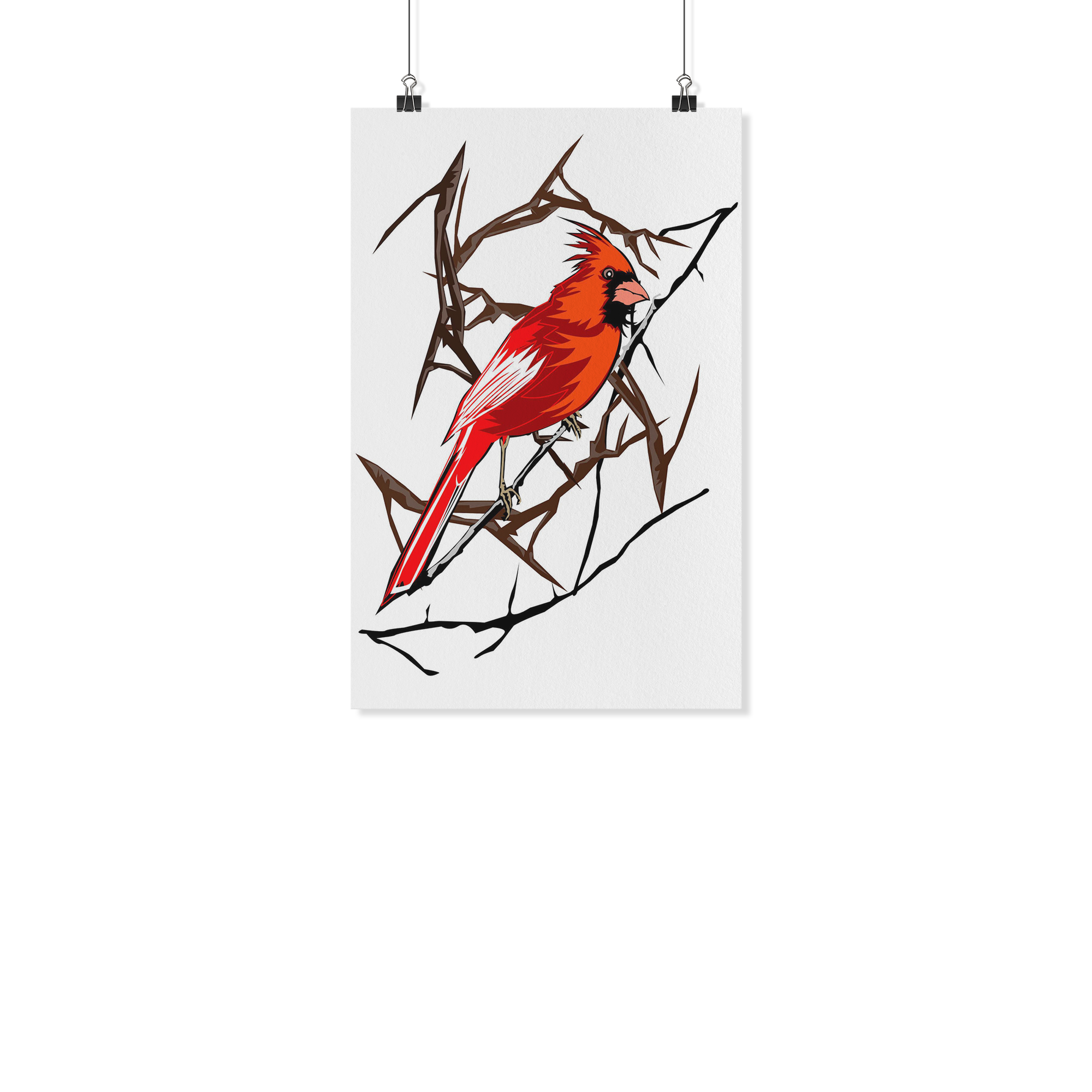 Northern Cardinal Bird Poster