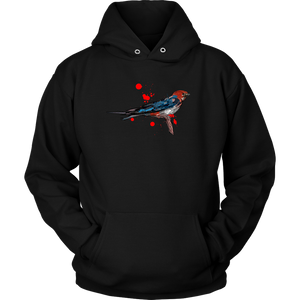 Lesser Striped Swallow Unisex Hoodie