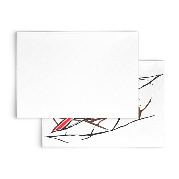 Northern Cardinal Bird Flat Card