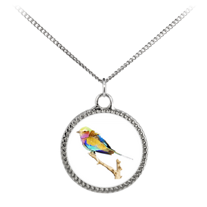 Lilac-breasted Roller Necklace Deco Coin