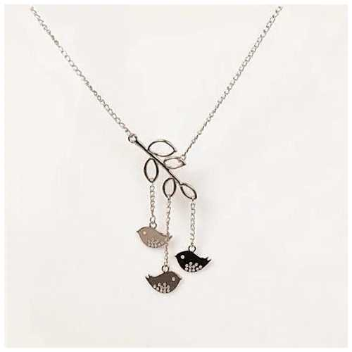 We R Family Necklace (Includes 3 Birds Together)