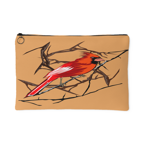 Northern Cardinal Bird Small Accessory Pouch