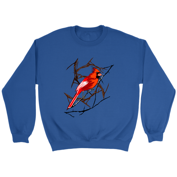 Northern Cardinal Bird Crewneck Sweatshirt