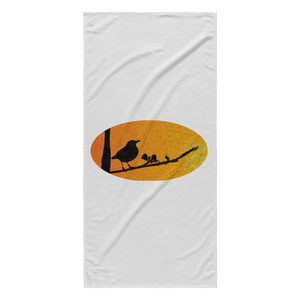 Black Bird Beach Towel
