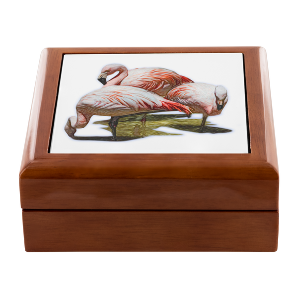 Flamingo Jewelry Box